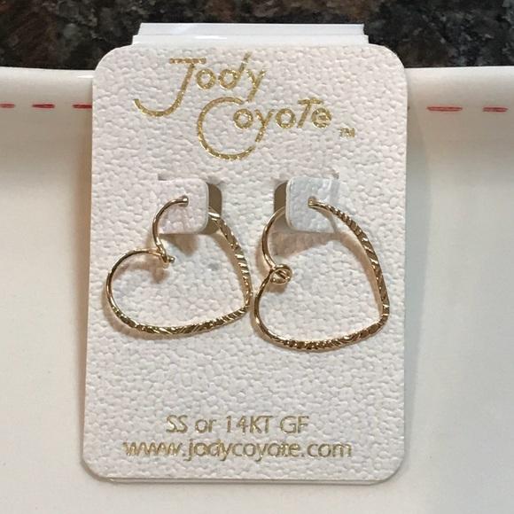 7902735b8 Jody Coyote Jewelry | Gold Heart Earrings Valentines Day | Poshmark